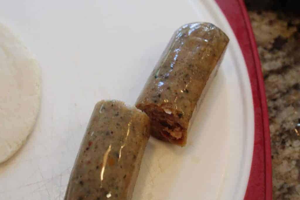 Cut Sausage in Half
