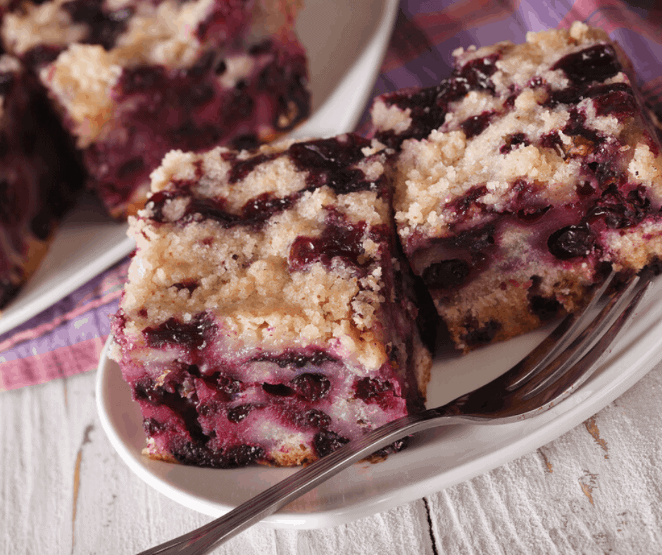 Air Fryer Blueberry Buckle