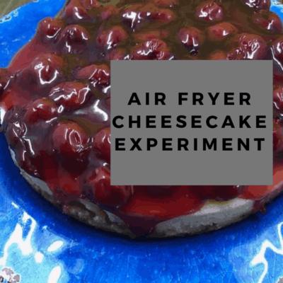 Air Fryer, Air Fried, Cherry Cheesecake
