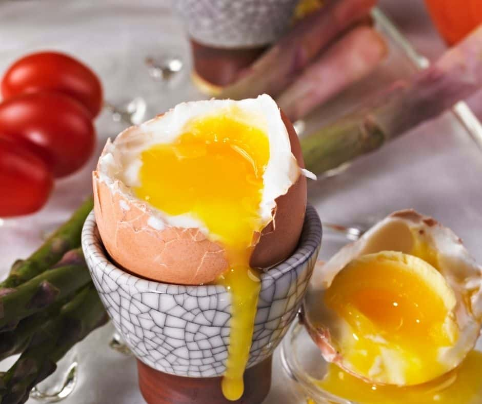 Air Fryer Soft Boiled Egg in Dish