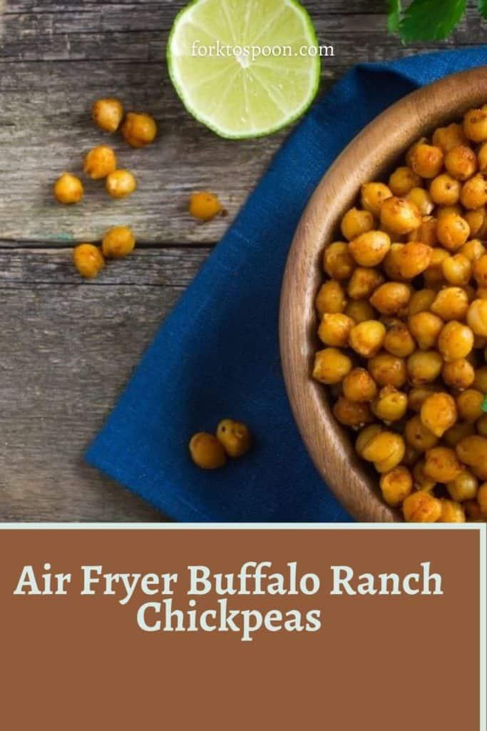 Air Fryer Buffalo Ranch Chickpeas