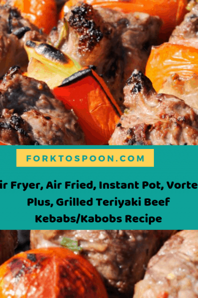 Air Fryer, Air Fried, Instant Pot, Vortex  Plus, Grilled Teriyaki Beef Kebabs/Kabobs Recipe