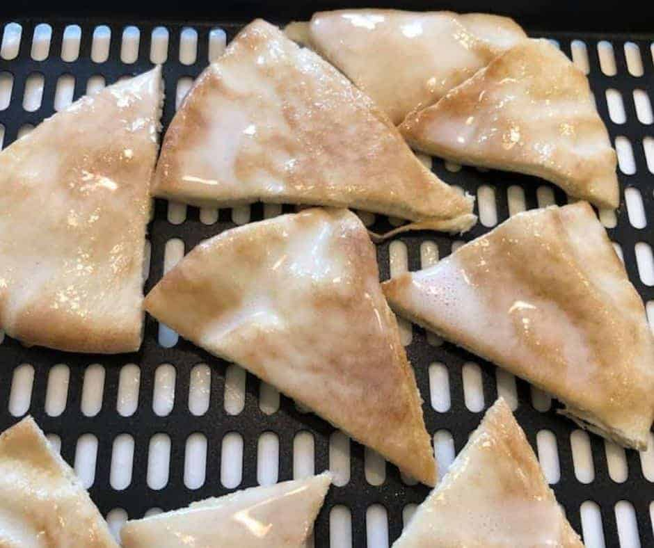 Pita Chips on Air Fryer Tray