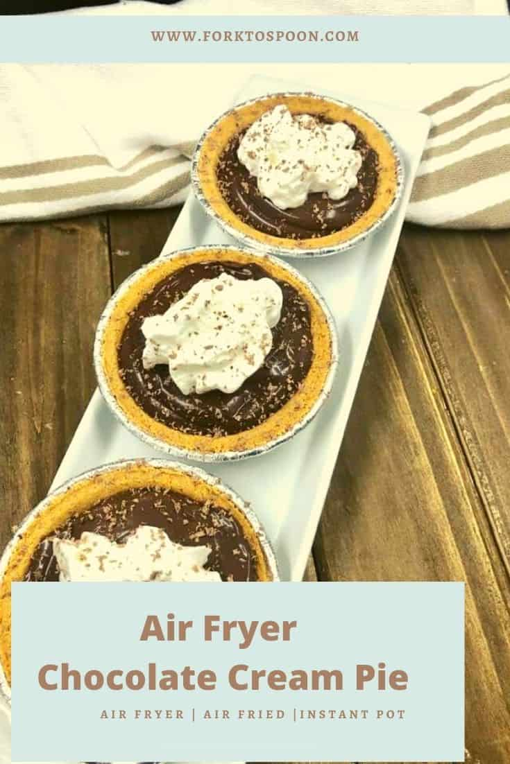 Air Fryer Chocolate Cream Pie