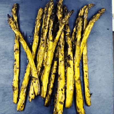 Air Fryer, Air Fried Simple Roasted Garlic Asparagus