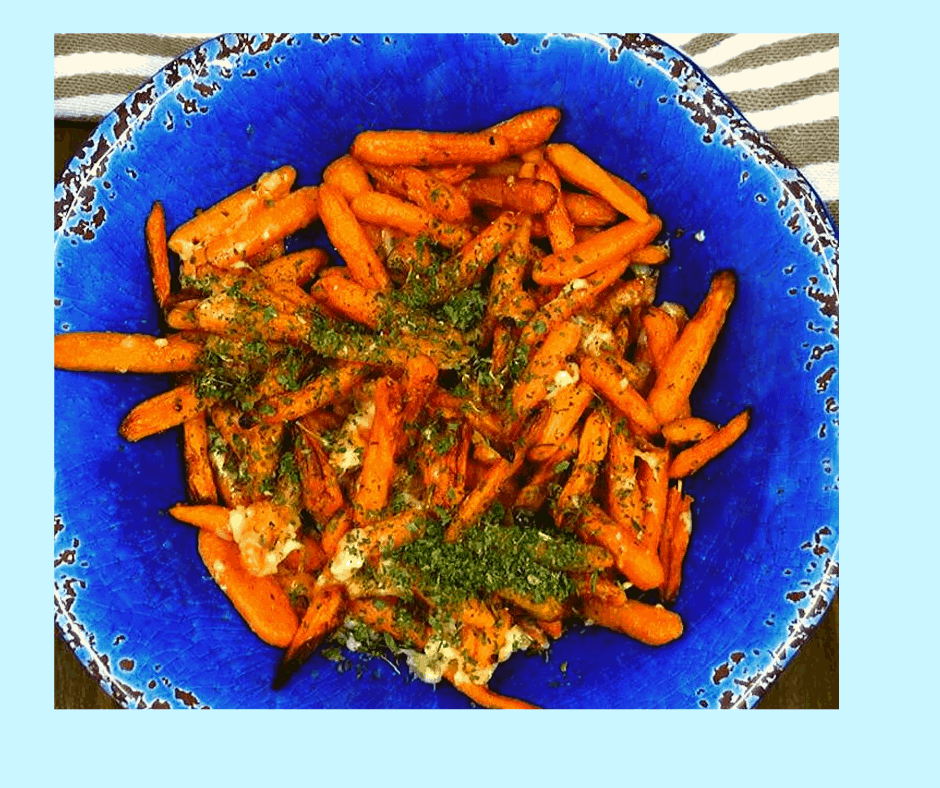 Air Fryer Parmesan Roasted Carrots