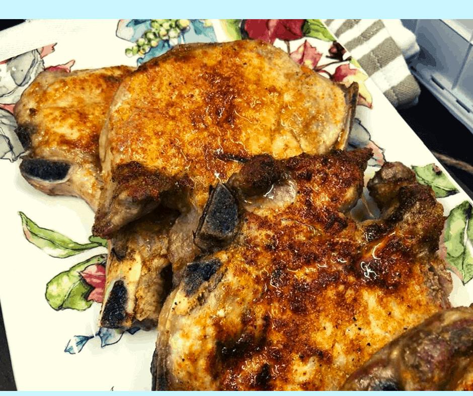 Easy Chicken Breast Recipes Fried: Air Fryer-Air Fried-Pork Chops How To Make Air Fryer Pork