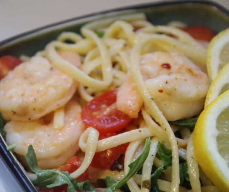Air Fryer Garlic Butter Shrimp Scampi