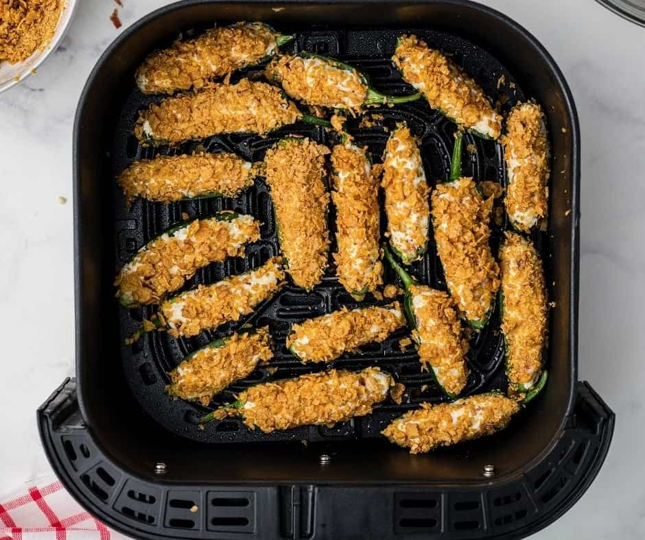 Jalapeno Peppers in Air Fryer Basket