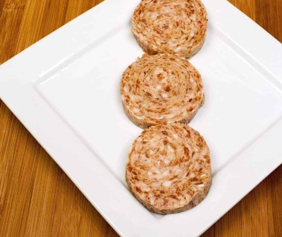 Raw Sausage Patties on Plate