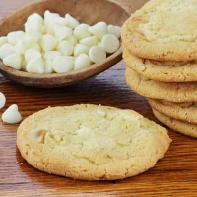 Air Fryer, Copycat Mrs. Fields White Chocolate Chip Cookies