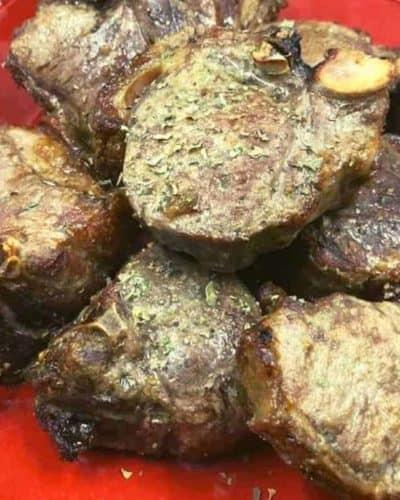 Air Fryer Greek Lamb Chops