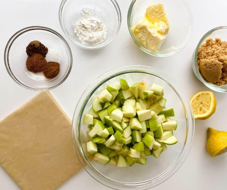 Air Fryer Apple Pies Egg Roll Ingredients