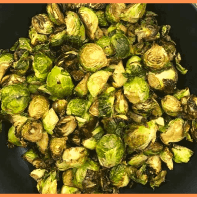Air Fryer, Perfectly Roasted Honey & Balsamic Brussels Sprouts
