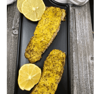Air Fryer, Horseradish Crusted Salmon