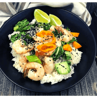 Air Fryer, Grilled Vadouvan Shrimp