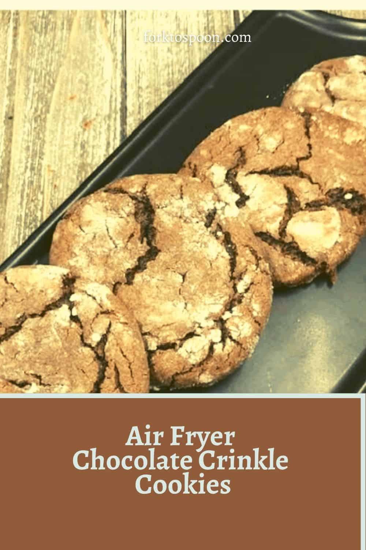 Air Fryer Chocolate Crinkle Cookies