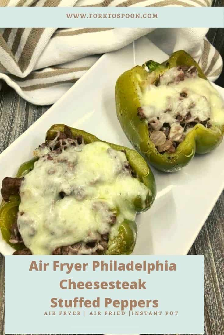 Air Fryer Philadelphia Cheesesteak Stuffed Peppers