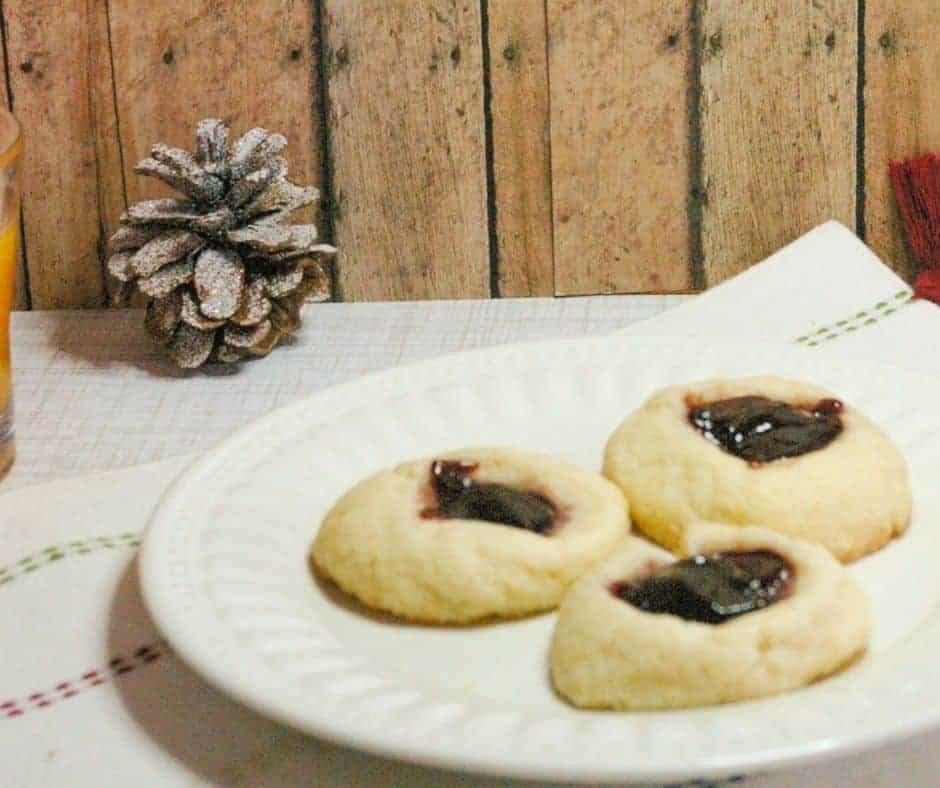 Air Fryer Thumbprint Cookies