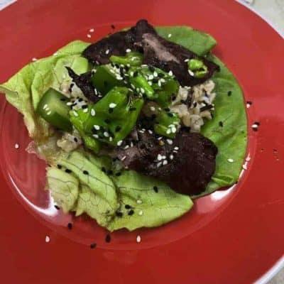 Air Fryer, Teriyaki Beef Lettuce Cups