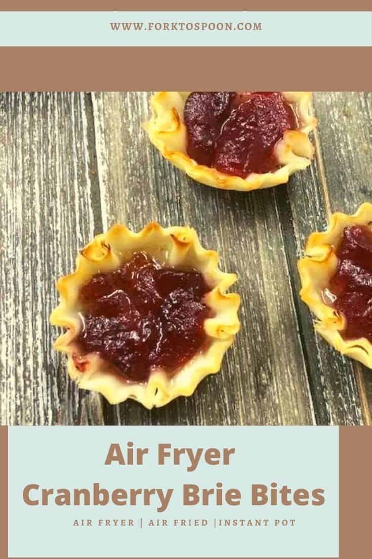 Air Fryer Cranberry Brie Bites