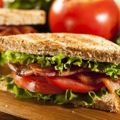 Air Fryer, Perfect BLT (Bacon, Lettuce and Tomato) Sandwich