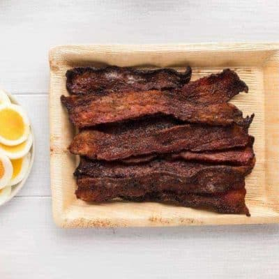 Air Fryer Maple Candied Bacon