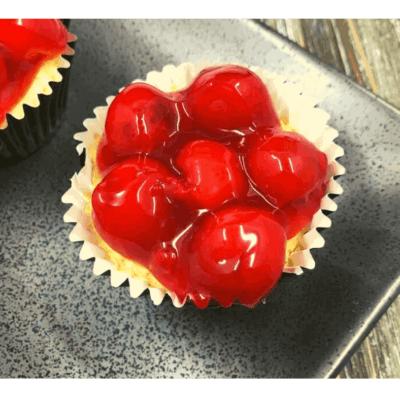 Air Fryer, Cherry Cheesecake Cupcakes