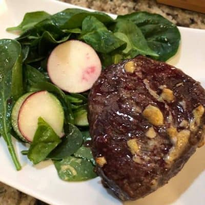 Air Fryer, Garlic-Dijon Steak