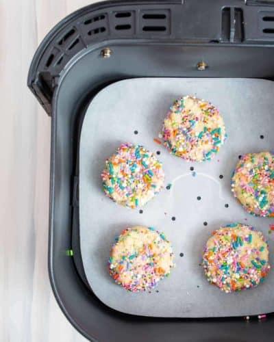 Air Fryer Confetti Cookies