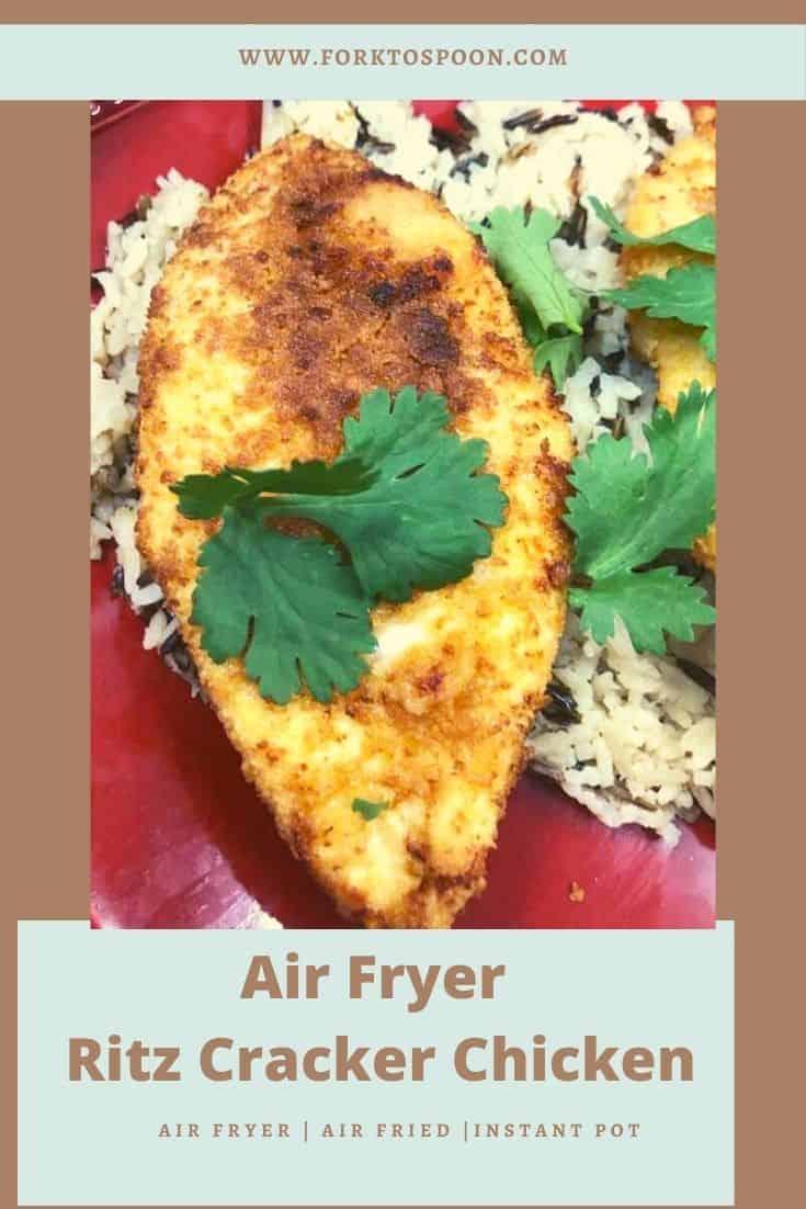 Air Fryer Ritz Cracker Chicken