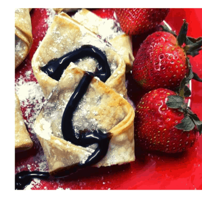 Air Fryer, Nutella and Strawberry Wontons