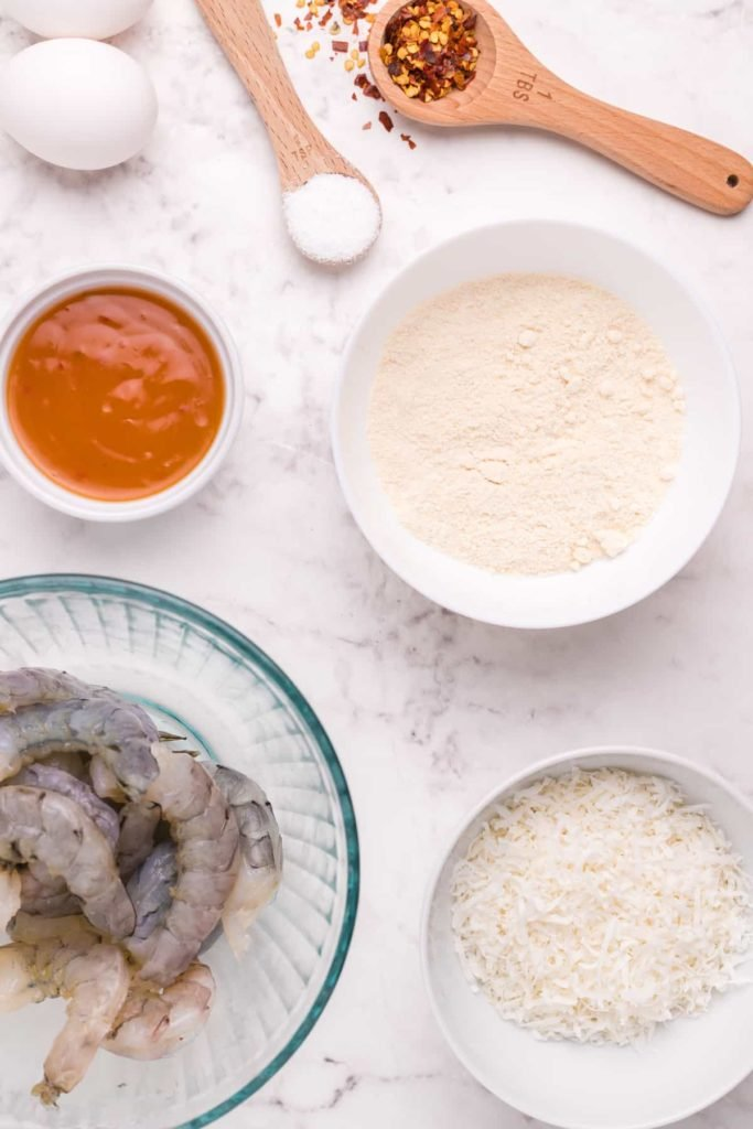 Ingredients For Air Fryer Coconut Shrimp