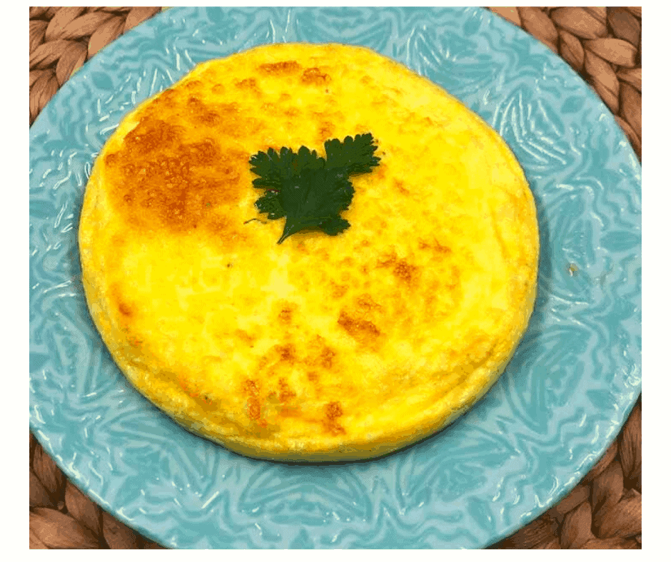 Air Fryer, Easy Egg and Cheese Frittata