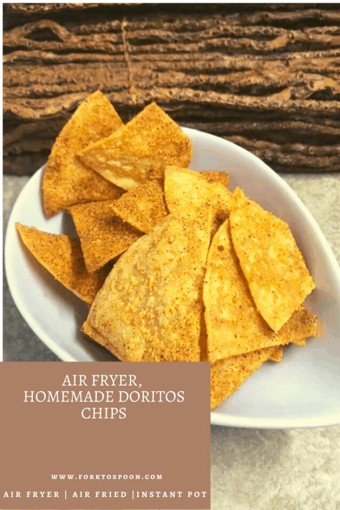Air Fryer,  Homemade Doritos Chips