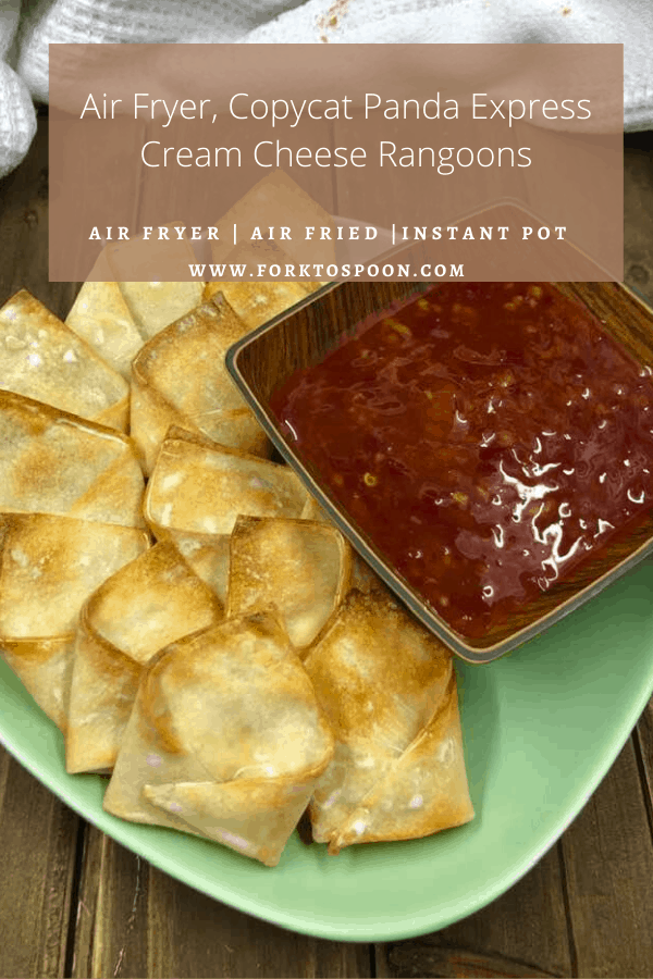 Air Fryer, Copycat Panda Express Cream Cheese Rangoon