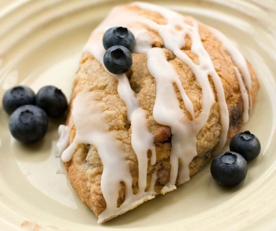 Air Fryer Blueberry Scones Biscuits