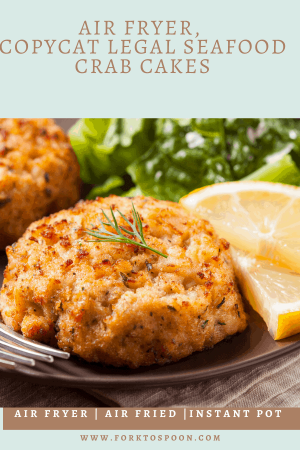 Air Fryer, Copycat Legal Seafood Crab Cakes