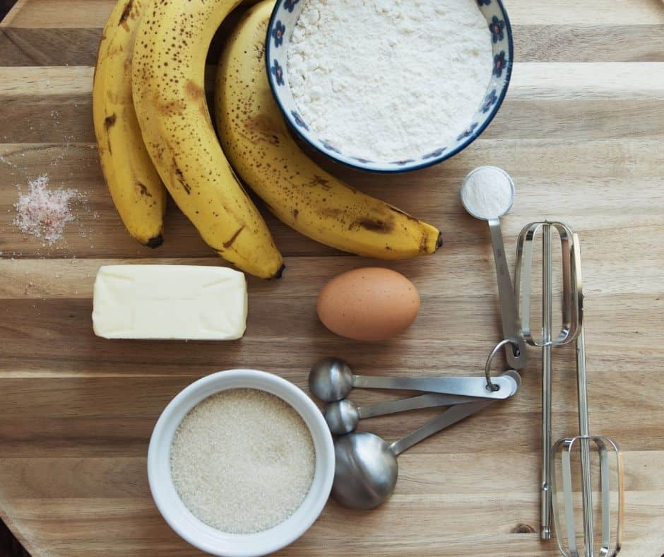 Ingredients For Air Fryer Spiced Banana Bread