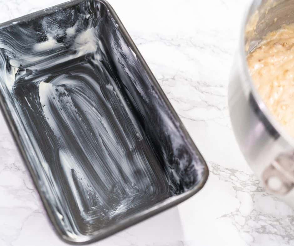 Grease your Loaf Pan