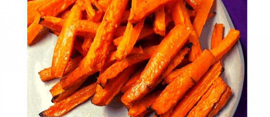 Air Fryer, Garlic Parmesan Roasted Carrot Fries