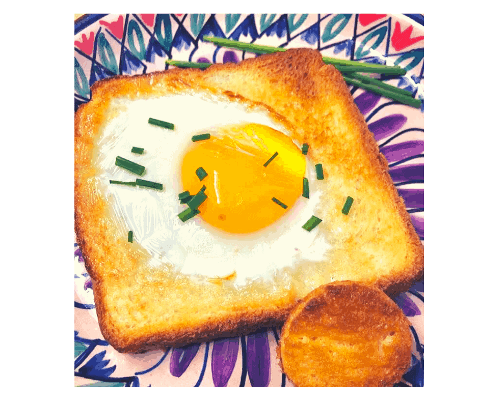 Air Fryer Egg In The Hole