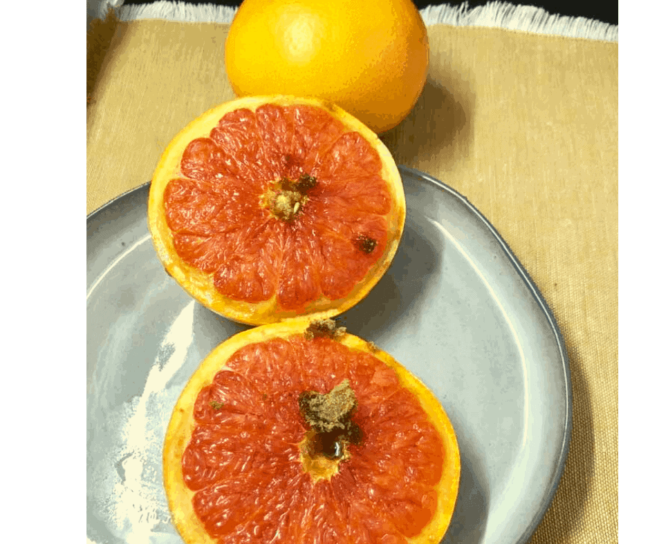 Air Fryer, Broiled Brown Sugar Grapefruit
