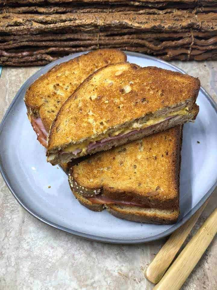 Air Fryer Grilled Ham and Cheese
