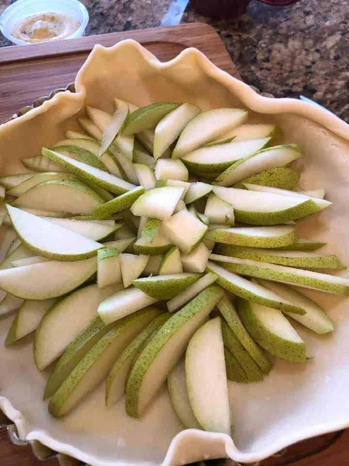 Pears in Middle of Pie Dough