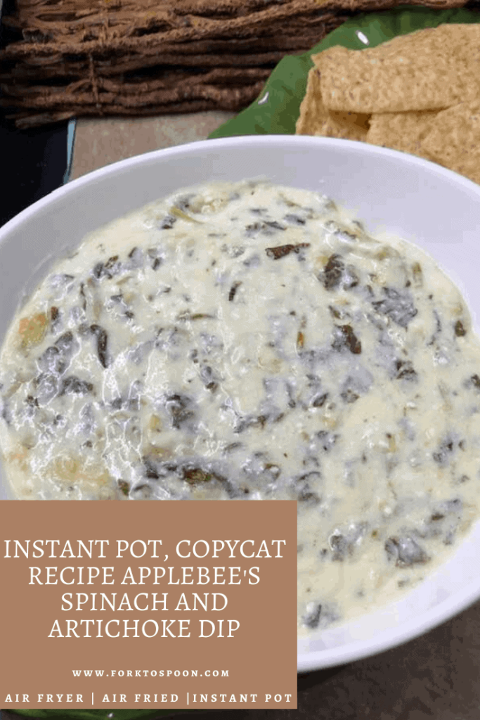 Instant Pot Copycat Recipe Applebee S Spinach And Artichoke Dip Fork To Spoon