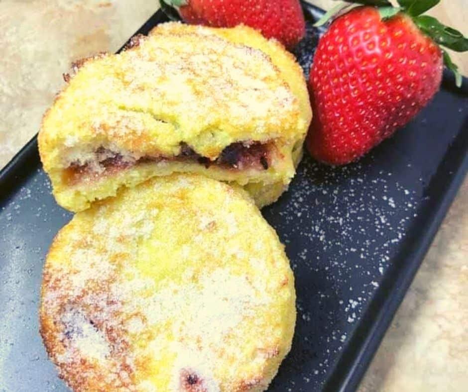 Air Fryer Jam Stuffed French Toast