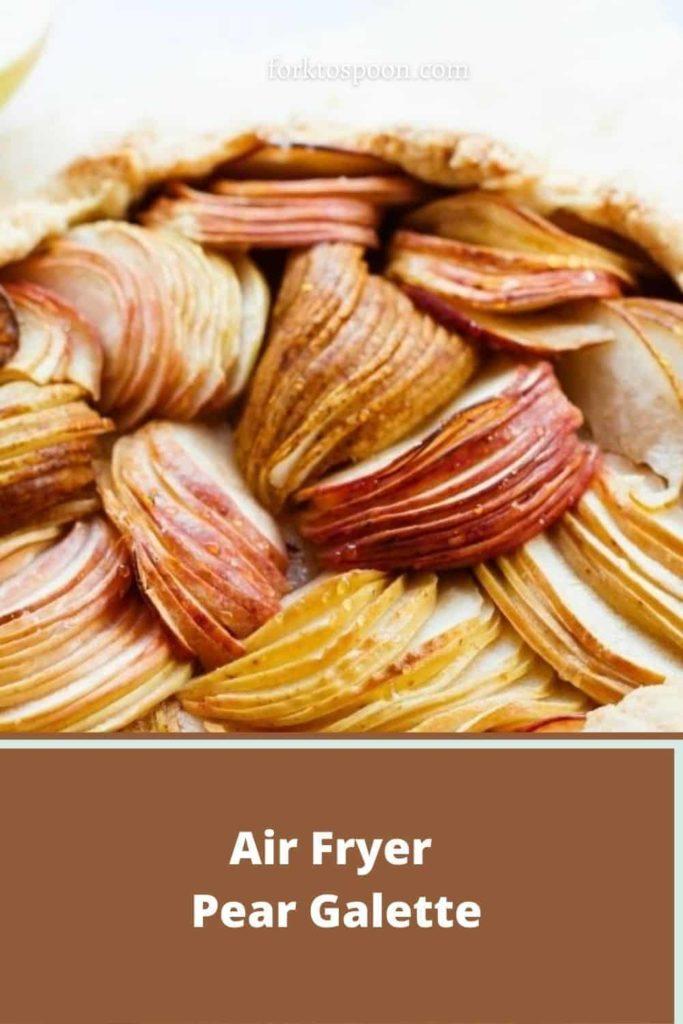 Air Fryer Pear Galette