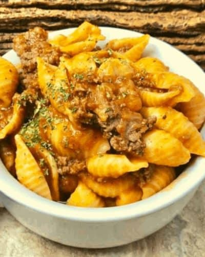 Instant Pot Pasta and Meat Sauce