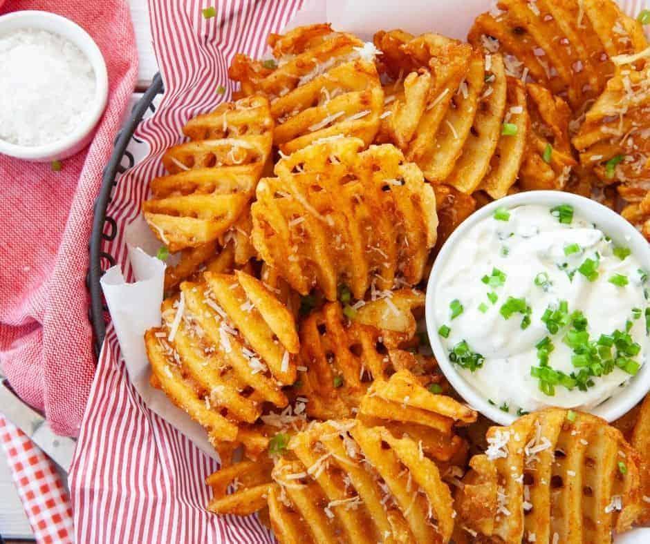 Air Fryer Frozen Waffle Cut Fries